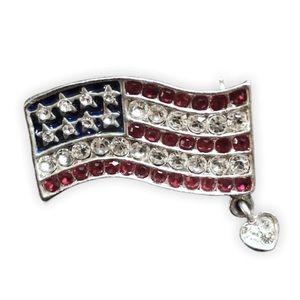 💥3/$20💥 Embellished American Flag Pin